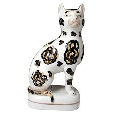 73 best cat figurines staffordshire images on cat