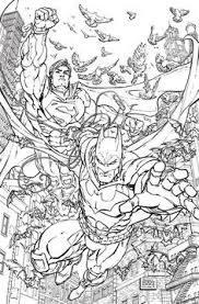 coloring pages of batman and superman batman superman and spider