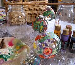 and alfalfa painted glass ornaments how to