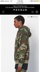 pacsun fog camo hoodie medium size m sweatshirts u0026 hoodies for