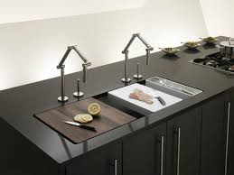 Kitchen Sinks And Faucets by Bathroom Cozy Black Granite Countertop With Waterstone Faucet And