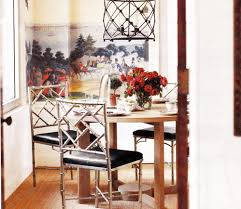 Bamboo Dining Room Chairs Dining Table With Ghost Chairs And Black Bamboo Chairs