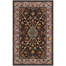 Safavieh Heritage Rug Safavieh Heritage Collection Charcoal And Ivory Area Rug 5x8
