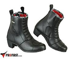 ladies motorbike boots profirst pro first genuine leather ladies high heel motorbike boots