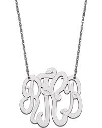 sterling silver monogram necklace new shopping special sterling silver 3 initial monogram necklace