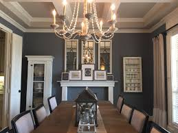 dining room modern farmhouse chandelier with metal pendant and