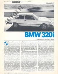 bmw 320i brochure foreign auto bmw 1979 bmw 320i sales brochure