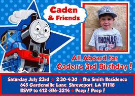 The Invitation Card Thomas The Train Party Invitations Kawaiitheo Com