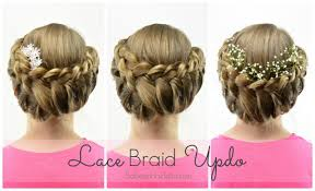 flower girl hair lace braid updo wedding flowergirl hairstyle babesinhairland