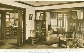 Craftsman Home Interior Design by Bookcase Colonnades From 1915 Pre Finished Woodwork Brochure