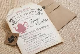 bridal shower invitation wording tea party stephenanuno com
