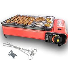 portable table top butane stove portable gas barbecue grill bbq cing table top cooker stove 1500w
