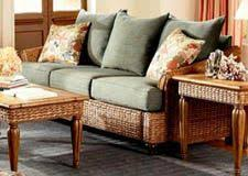 rattan sleeper sofa rattan and wicker sunroom furniture from rattan specialties