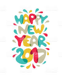 new year post card happy new year 2017 vector post card stock vector 623446740