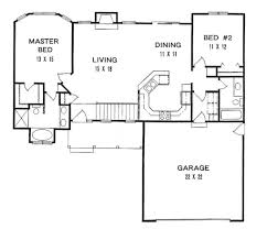 2 bedroom ranch style house plans house plans