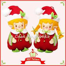 sewing patterns christmas elf pdf felt pattern elf ornament sewing pattern christmas