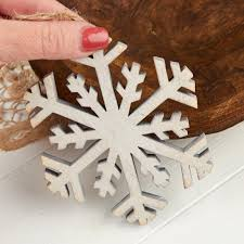rustic white washed wood snowflake ornament ornaments