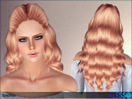 sims 3 custom content hair wavy hairstyles sims 3 cool hairstyle wavy hawk by jasumi sims