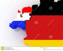 Map Of Netherlands Map Of Netherlands And Germany Royalty Free Stock Photo Image