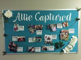 september ra about me bulletin board with a photography theme to