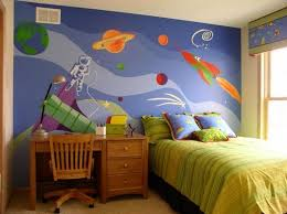 Best Space Themed Room Images On Pinterest Bedroom Ideas - Boys bedroom wallpaper ideas
