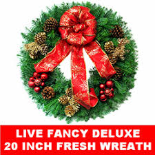 Live Decorated Christmas Wreaths by Christmas Decorations Wreaths Live And Fresh Christmastopia Com