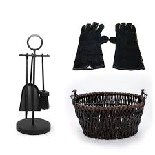 4piece crafters companion tool set fireplace log basket fireplace