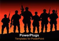 military powerpoint template slidemodel free template