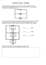 current voltage in circuits questions worksheet by