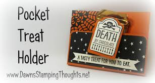 stampin up halloween stamps halloween pocket treat holder with dawn using stampin u0027up products