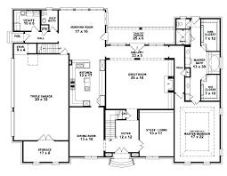 simple 5 bedroom house plans 4 bedroom rectangular house plans tarowing club