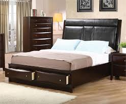 King Size Leather Headboard Leather Headboard Storage Bedroom Set Pheonix Collection