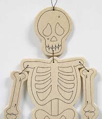 unfinished wooden skeleton ornament wood cutouts unfinished