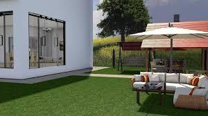 modern house interior exterior design 3d model rigged c4d