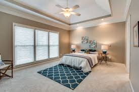Master Bedroom Carpet Contemporary Master Bedroom With High Ceiling Flush Light In