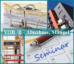 mängelansprüche seminar seminarreihe vob kompakt bpm bauprojektmanagement seminare