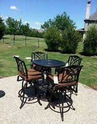 Yard Art Patio Fireplace Gensun U0027s Grand Terrace Extension Dining Table Paired With Hermosa