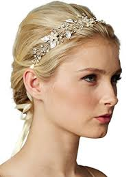 bridal headband mariell freshwater pearl and bridal headband