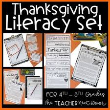 thanksgiving literacy unit for 4th 5th grade thanksgiving activities