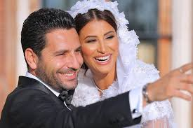 rym saidi is a vision in her georges hobeika wedding gown about her
