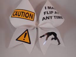 cheer bows uk cheer bow caution i may flip at any time w rhinestone center
