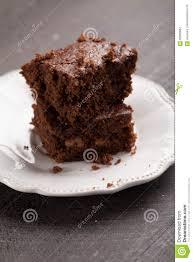 walnut brownie cake slightly above shot stock photo image 82969887