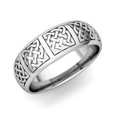 celtic mens wedding bands mens celtic knot wedding band his 18k gold comfort fit wedding ring