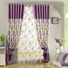 interior purple white modern decorative vertical folding curtain