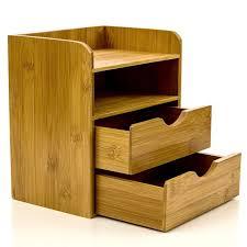 Vintage Desk Organizers Intriom Bamboo 4 Tier Supply Organizers Mini Desk Organizer Within