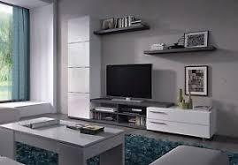 Living Room Tv Table Abriella Tv Unit Living Room Furniture Media Set Ash Grey White