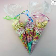 candy bags party bags clear cones cello cone sweet candy bag birthday wedding