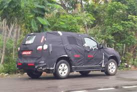 chevrolet trailblazer 2015 chevrolet trailblazer suv twins spied on test in trivandrum