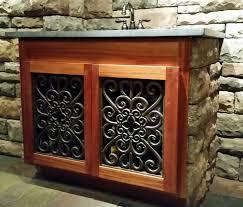wrought iron cabinet door inserts iron furniture by teton iron