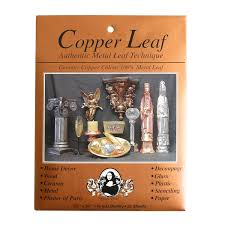 amazon com speedball mona lisa genuine copper leaf 25 sheet pack